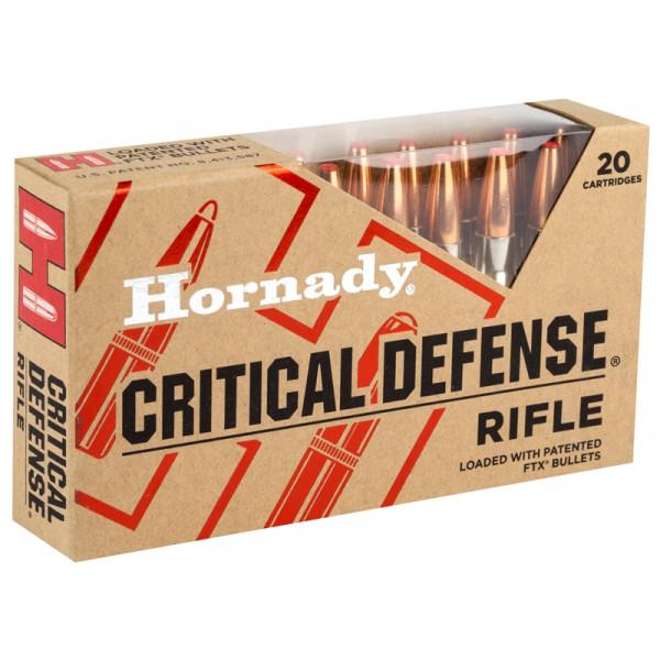 HORNADY CRITICAL DEFENSE 308WIN - 155 GRS. - FTX - 20 STÜCK