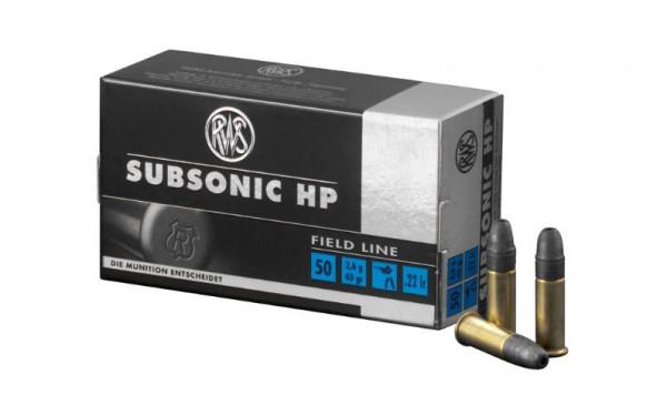 RWS SUBSONIC HP- .22LR - 40 GRS. - 50 KK-PATRONEN