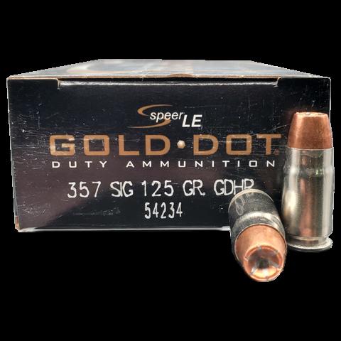 SPEER GOLD DOT - .357SIG 125 GRS - GDHP HOHLSPITZMUNITION