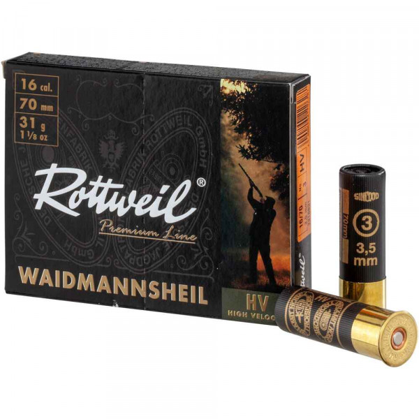 ROTTWEIL WAIDMANNSHEIL -16/70 - 3,5MM - 10 SCHUSS