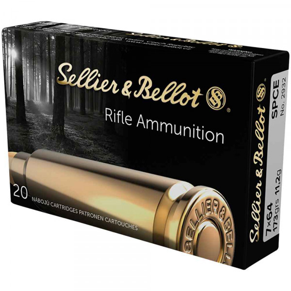 SELLIER & BELLOT - TEILMANTEL - SPCE- 7x64 - 173GRS - 20 SCHUSS