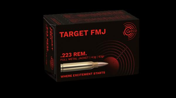 GECO TARGET .223REM - FMJ 63GRS. - 50 PATRONEN