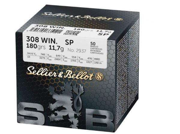 SELLIER & BELLOT .308WIN. SP/TM - 180GRS. - 50 STÜCK