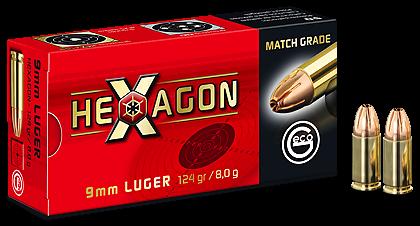 GECO HEXAGON 9x19MM -124 GRS. - 50 SCHUSS