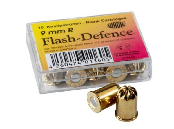WADIE FLASH DEFENSE - REVOLVER KNALLPATRONEN - KAL. 9MM R - 10 STK.