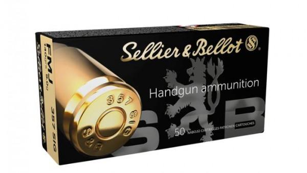 SELLIER & BELLOT PISTOLENPATRONEN - .357SIG - FMJ - 140 GRS. - 50 STÜCK
