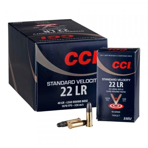 CCI STANDARD VELOCITY - .22LR - 500 PATRONEN