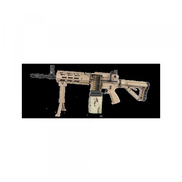 G&G CM16 LMG - S-AEG - DESERT - 6MM - AIRSOFT
