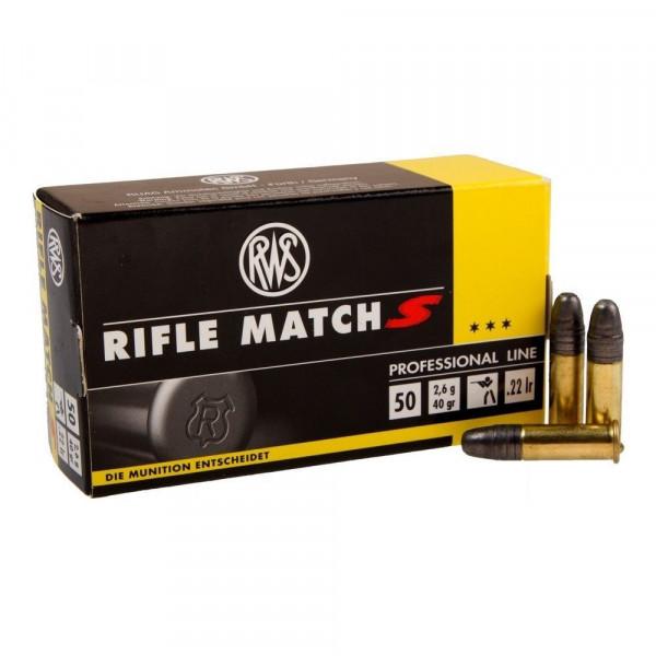 RWS RIFLE MATCH S - .22LR - 50 PATRONEN