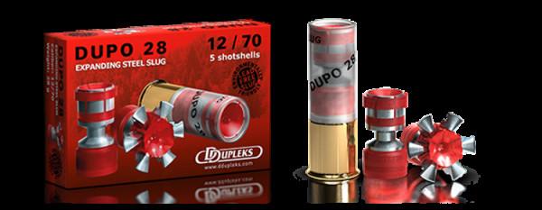 DDUPLEKS DUPO 28 - 12/70 - EXPANDING STEEL SLUG - 5 SCHUSS