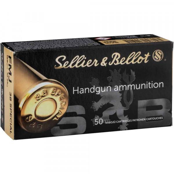 SELLIER & BELLOT .38SPECIAL FMJ- 158GRS - 50 SCHUSS