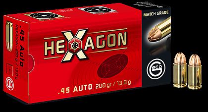 GECO HEXAGON TM - 201GRS IM KALIBER .45AUTO