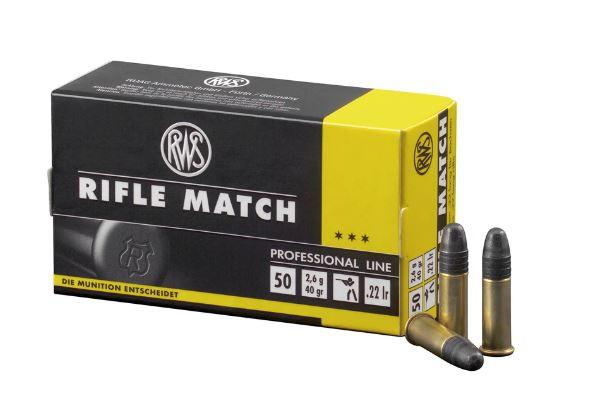 RWS RIFLE MATCH - .22LR - 50 PATRONEN