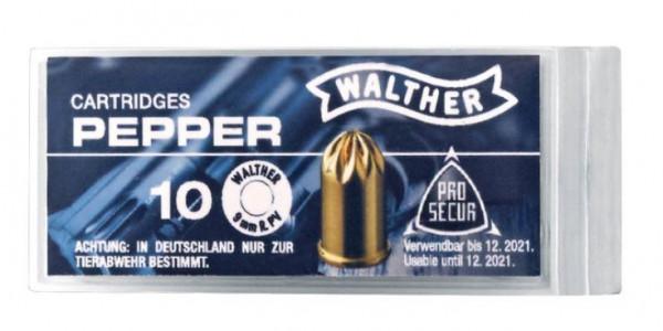 WALTHER REVOLVER-PFEFFERPATRONEN - 9MM R.K. - 10 SCHUSS